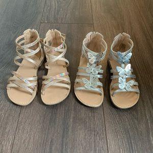 Euc Gladiator Sandal Bundle, Size Toddler 11